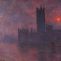 London Houses Of Parliament At Sunset  by PixBreak Art