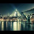 London Landmarks By Night by Araminta Studio - Didier Kobi