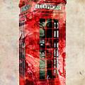 London Phone Box Urban Art by Michael Tompsett