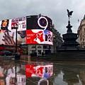 London Piccadilly On A Rainy Day by Anna Neuprandt