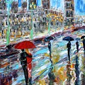 London Rainy Evening by Karen Tarlton
