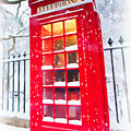 London Red Telephone Booth  by Jeelan Clark