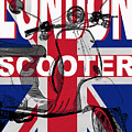 London Scooter Rally Poster by Edward Fielding