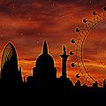 London Skyline At Dusk by Michal Boubin