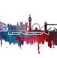 London Skyline City Blue by Justyna JBJart