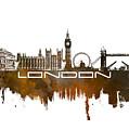 London Skyline City Brown by Justyna JBJart