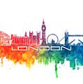 London Skyline City Color by Justyna JBJart