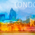 London Skyline Poster by Lutz Baar