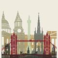 London Skyline Poster by Pablo Romero