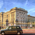 London Taxi And Buckingham Palace  by David Pyatt