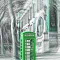 London Telephone Green by Alex Art and Photo