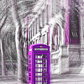 London Telephone Purple by Alex Art and Photo