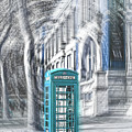 London Telephone Turquoise by Alex Art and Photo