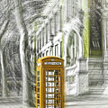 London Telephone Yellow by Alex Art and Photo