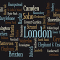 London Text Map by Michael Tompsett