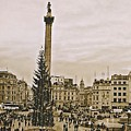 London's Trafalgar Square by Cory Brewington