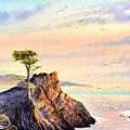 Lone Cypress Tree Pebble Beach by Bill Holkham