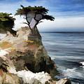 Lone Cypress Tree Pebble Beach  by Chuck Kuhn