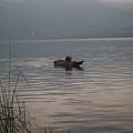 Lone Fisherman Lake Atitlan by Douglas Barnett