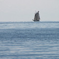 Lone Ship At Sea by Ginger Howland