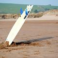 Lone Surfboard by Helen Northcott