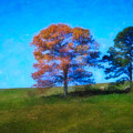 Lone Trees Painting by Teresa Mucha