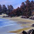 Lonely Beach by John Cocoris