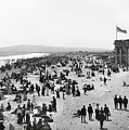 Long Beach California And Bath House C. 1902 by Daniel Hagerman