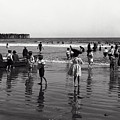 Long Beach California Bathers C. 1910 by Daniel Hagerman