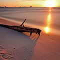 Long Beach Driftwood - Mississippi - Sunrise by Jason Politte