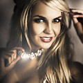 Long Blond Hair Fashion Girl In Night Makeup  by Jorgo Photography - Wall Art Gallery