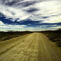 Long Dusty Road In Jal New Mexico  by Jeff Swan