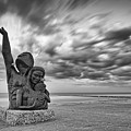 Long Exposure Of The 1900 Hurricane Storm Memorial At The Galveston Seawall - Texas Gulf Coast by Silvio Ligutti