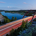 Long Exposure View Of Pennybacker Bridge Over Lake Austin At Twilight - Austin Texas Hill Country by Silvio Ligutti