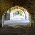 Long Hall At Fort Pickens by Laurie Perry