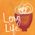 Long Life Noodle Bowl by Linda Woods