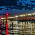 Long Lights At Grand Haven Pier by Nick Zelinsky