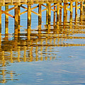 Long Wooden Pier Reflections by Laura D Young