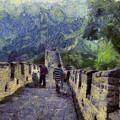 Long Slope Of The Great Wall Of China by Ashish Agarwal