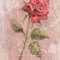 Long Stemmed Rose by Arline Wagner