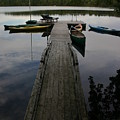 Long Walk On Dock by Dennis Curry
