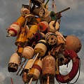 Long Wharf Buoys by Steven Natanson