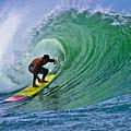 Longboarder In The Tube by Paul Topp