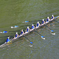 Longboat - Rowing On The Schuylkill River by Bill Cannon