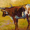 Longhorn Study by Marion Rose