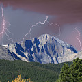 Longs Peak Lightning Storm Fine Art Photography Print by James BO Insogna