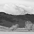 Longs Peak Snow Storm Bw by James BO Insogna