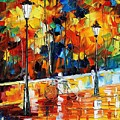 Lonley Bicycle by Leonid Afremov