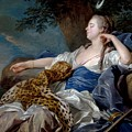 Loo, Louis-michel Van Tolon, 1707 - Paris, 1771 Diana In A Landscape 1739 by LOO LOUIS-MICHEL VAN Tolon