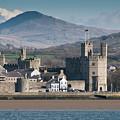 Looking Accross The Menai Straits To Caernarfon Castle by Keith Morris
